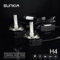 2pcs Set SUNKIA 60w 8400LM T5 Car LED Headlight H1 H3 H4 H7 H11 9005 9006
