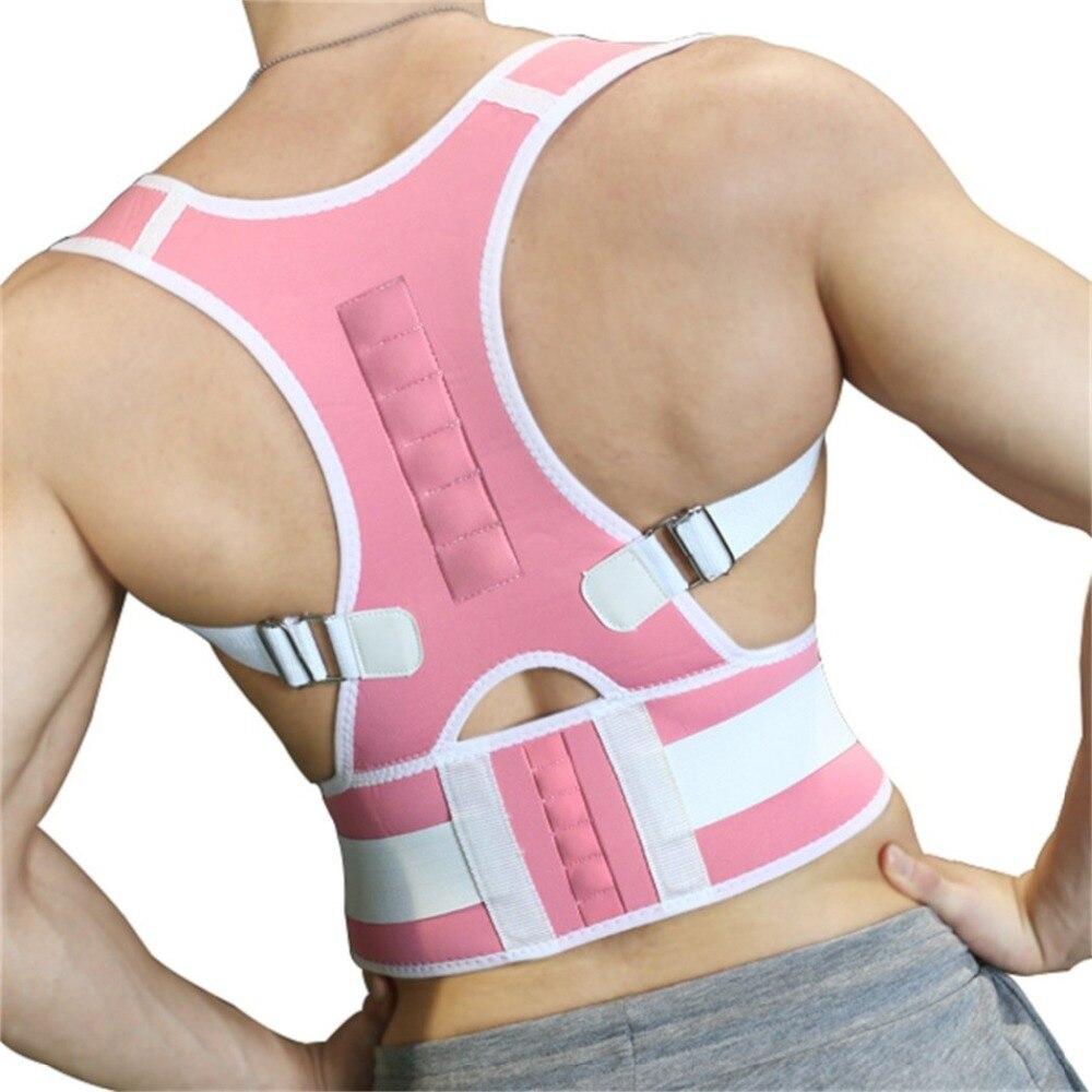 Madeira de Volta Postura Corrector Suporte Belt Brace Terapia Magnética médica Menor Dor Nas Costas Tratamento Dos Homens Das Mulheres Espartilhos