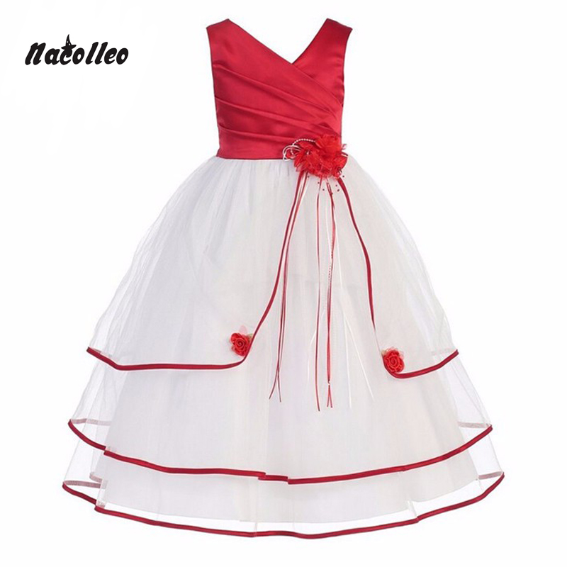 New Summer Girl Kids Party Dress Long Evening Prom Gown Formal Teenage Girls Clothes Flower Girl Dress for Wedding Ceremonyc4-10 red new summer flower kids party dresses for weddings formal princess girl evening prom sleeveless girl bow mesh dress clothes
