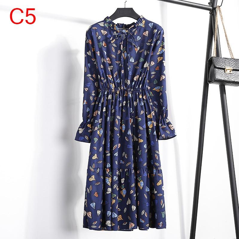 Korean Black Shirt Vestidos Office Polka Dot Vintage Autumn Dresses Women Winter Dress 19 Midi Floral Long Sleeve Dress Female 100