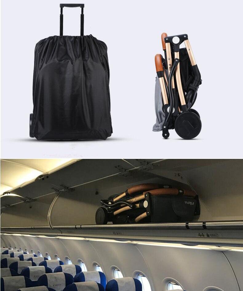 Poussette bébé avion léger Portable voyage landau enfants poussette 4 cadeaux gratuits, 3 USD COUPONS, FRANCE libre d'impôt - 2