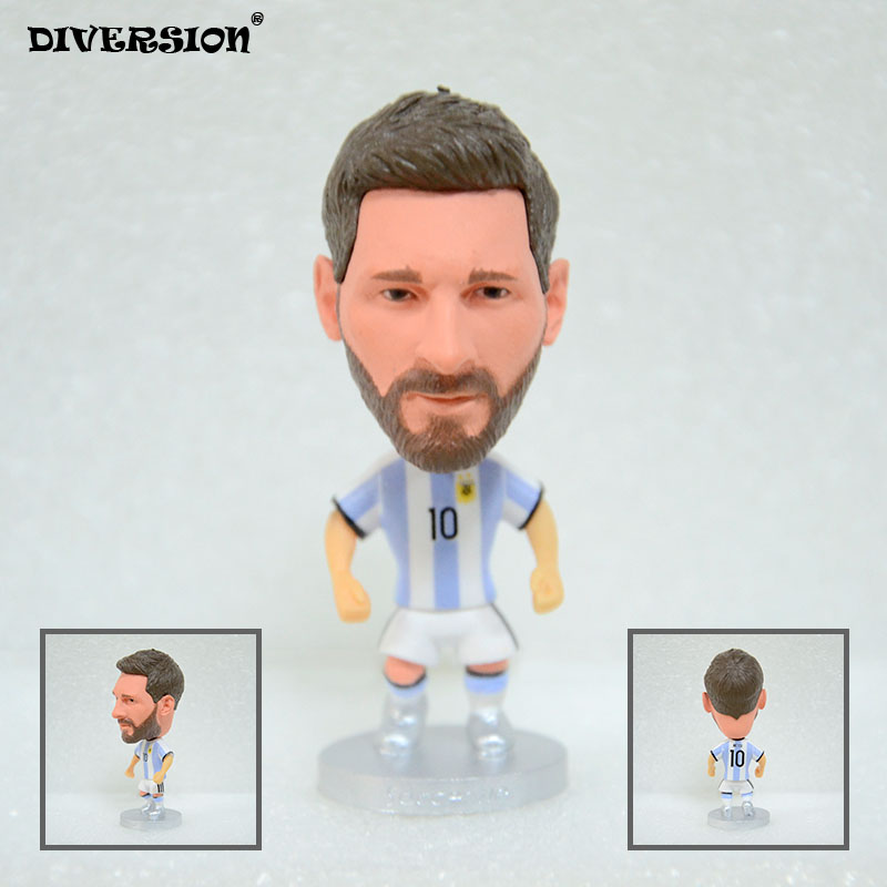 Soccer Player Star 10# MESSI (ARG-2018) 2.5″ Toy Doll Figure soccerwe