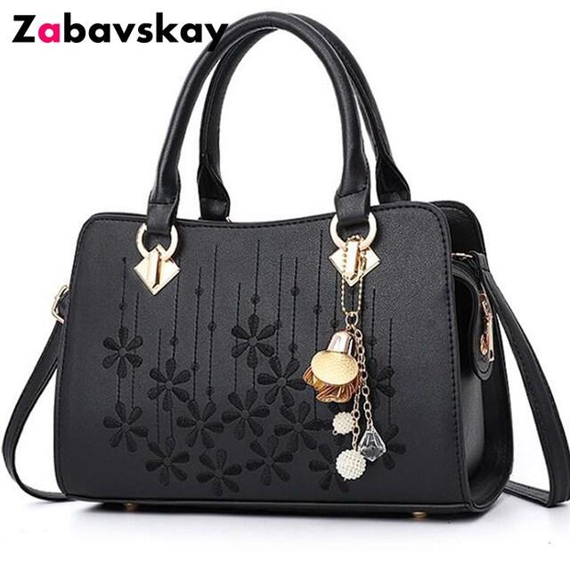 2018 Fashion Handbags Women Messenger Bag Female Leather Shoulder Bag  Women's Embroidery Flower Handbag sac a main DJZ372