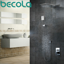 Free Shipping becola bathroom wall mounted hot and cold water shower set luxury new rainfall faucet B-9906