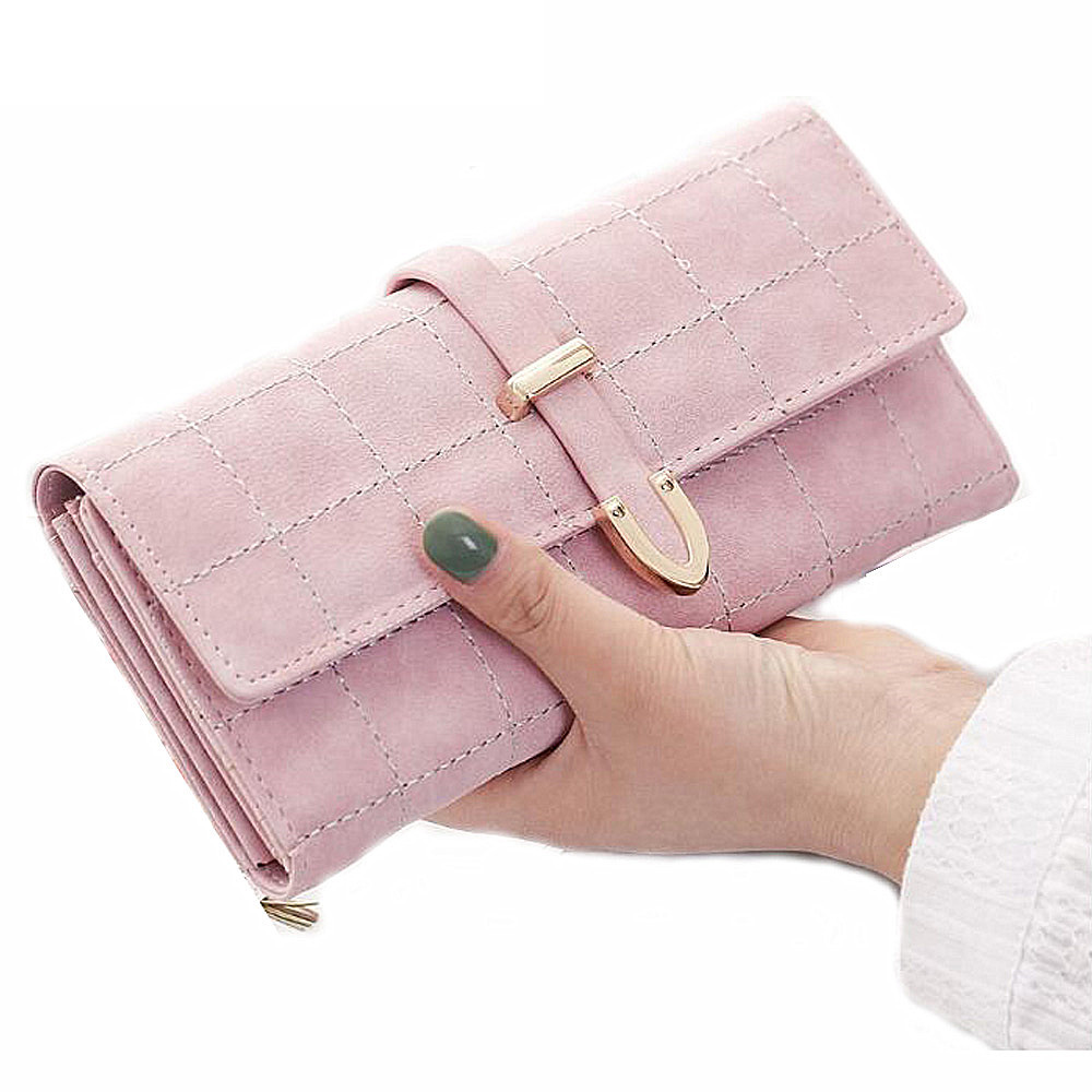 Women Wallet Female Coin Purse Fashion Long Clutch Hasp Closure Lady Purse Drawstring Nubuck PU Leather Purse Credit Card Holder new high quality long clutch wallet women pu leather credit card holder hasp zipper design purse female carteira mulheres wallet