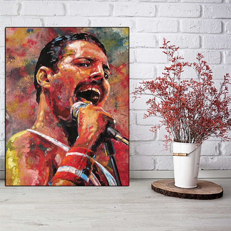 queen band freddie mercury posters artwork hd painting canvas prints wall art picture for living room