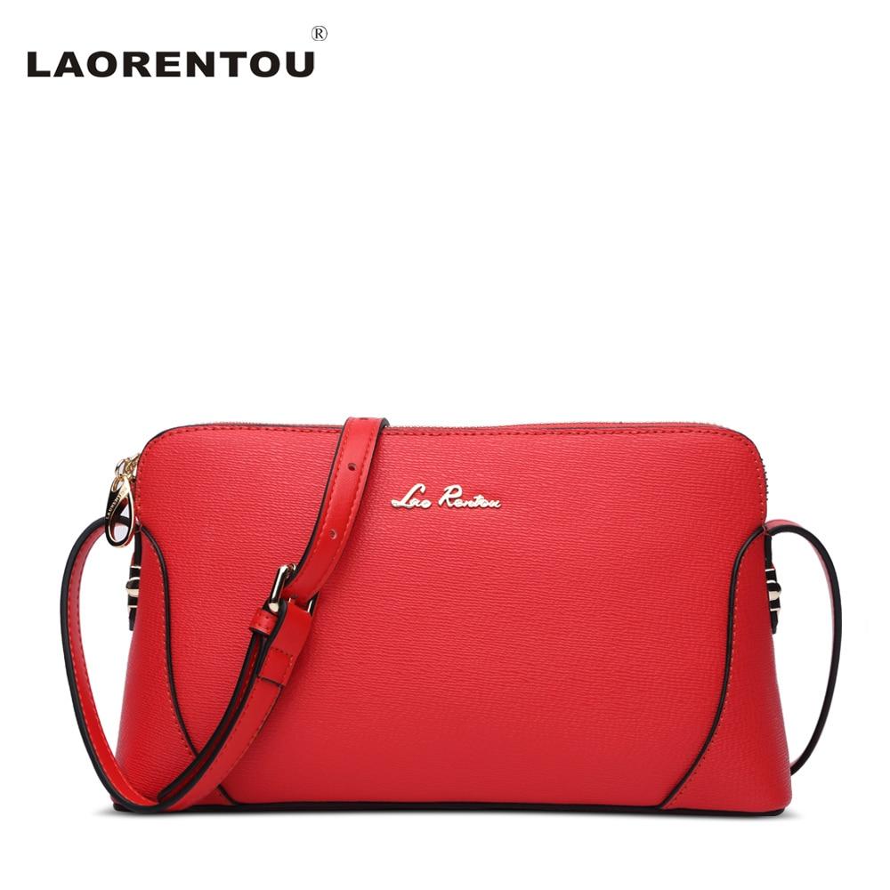 ФОТО Laorentou Cowhide Leather Flap Women Shoulder Bag Casual Solid Patchwork Design Crossbody Bags For Women Luxury Brand Bag N59