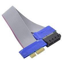 Chipal cabo extensor pci-e 1x para 1x, cabo de extensão pci express pcie 1x para 1x riser adaptador de conversor de cartão para btc ltc mineração
