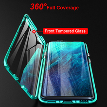 Front And Back Glass Magnetic Case For Oneplus 7 Pro Cover Cases 360 Transparent Clear Hard Cover One Plus 7 Pro Case Covers
