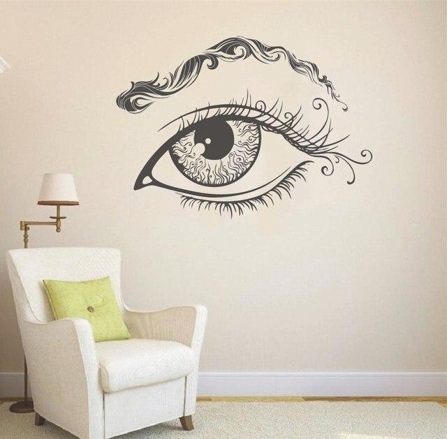 removable eye eyebrows wall vinyl decal eyelashes wall sticker