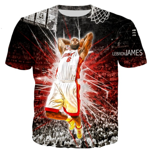 on sale 694e0 5172e US $9.42 32% OFF|YX GIRL Classic The Royalty Lebron James 2018 New 3D Print  Short Sleeve Summer Tops Tees T shirt plus size S 5XL Drop shipping-in ...