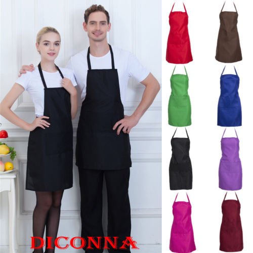 Einstellbare Bib Schürze Kleid Männer Frauen Küche Restaurant Chef Klassische Kochen