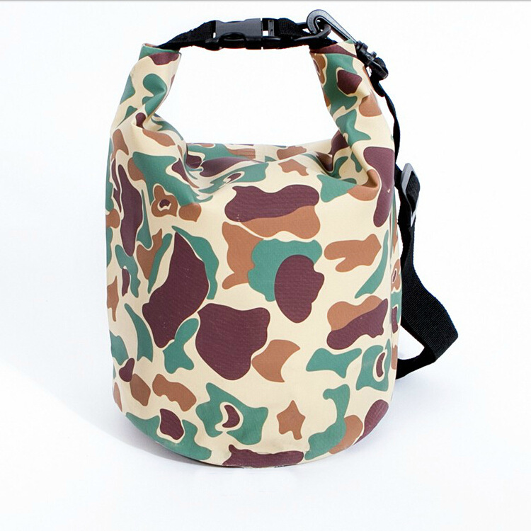 1pc 5L PVC Camouflage Outdoor Waterproof Bags Ultralight Drifting Rafting Canoe Swimming Camping Hiking Dry Bag Pouch 1720RB