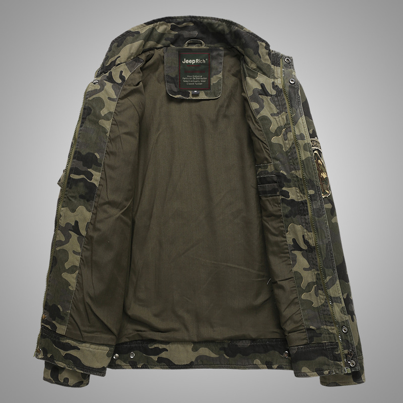 Տղամարդիկ Bomber Jacket Աշուն / Ձմեռ - Տղամարդկանց հագուստ - Լուսանկար 4