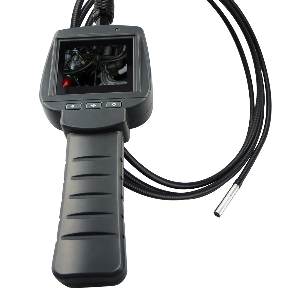 5.5mm Camera 2M Cable Video Inspection 2.4 HD Screen Endoscope Snakescope Industrial Borescope 4 LED IP67 180degree Rotation eyoyo nts200 endoscope inspection camera with 3 5 inch lcd monitor 8 2mm diameter 2 meters tube borescope zoom rotate flip