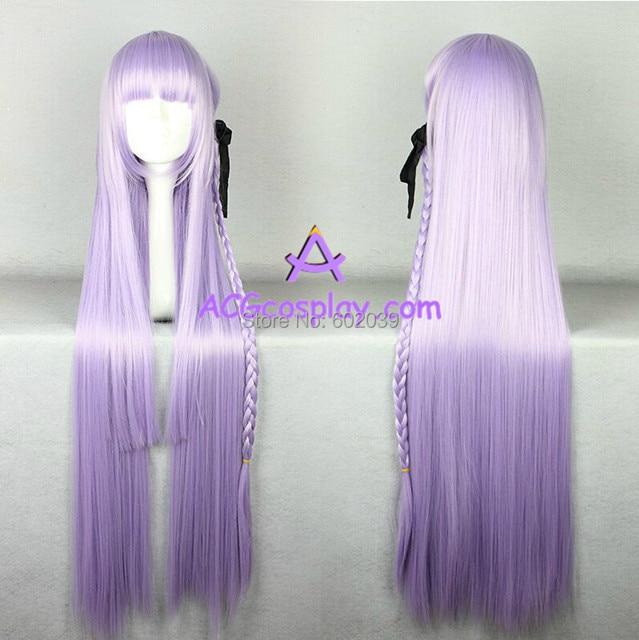 Danganronpa Kirigiri Kyouko cosplay wig light purple wig long straight wig 68c62f682