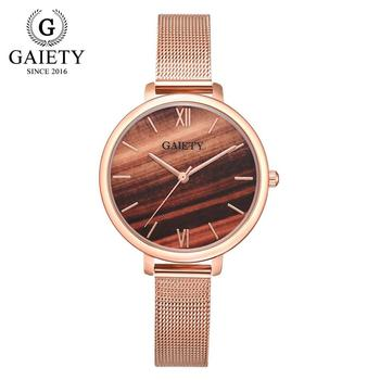 Gaiety Luxury 2 PCS Set Watch Women Rose Gold Water Drill Bracelet Watch Jewelry Ladies Female Hour Casual Quartz Wristwatches 14