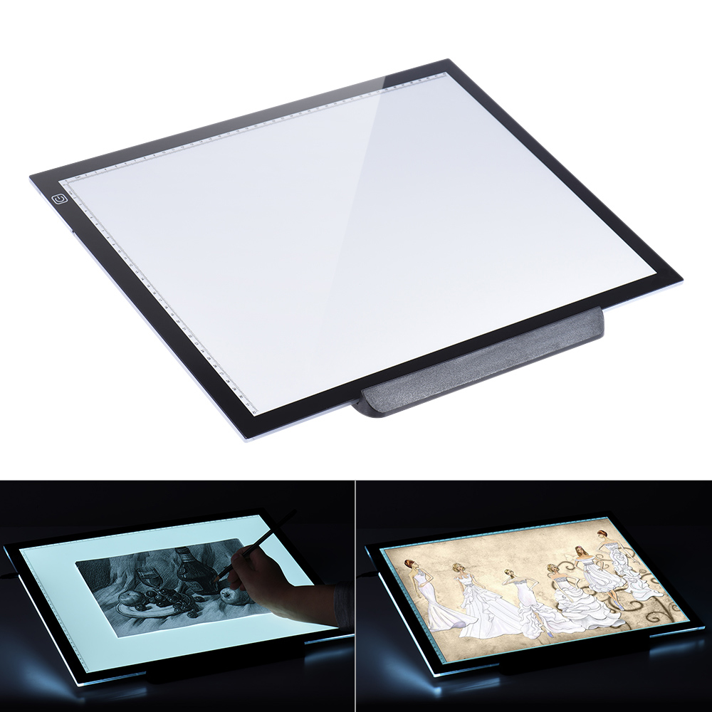 Portable Super Thin A4 LED Light Pad Box Drawing Copy Board Table Pad Tattoo Copy Board For Diamond Painting Tattoo Sketching