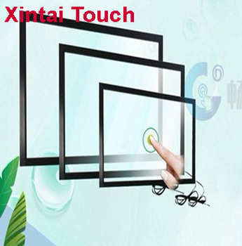 Free Shipping! 55 inch IR touch frame 20 points usb infrared touch screen panel multi touchscreen overlay for LCD monitor