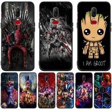 Luxury Cute Marvel Avengers Groot For One plus 5 One plus 5T One plus 6 One plus 6T phone Case Cover Funda Coque Etui capa все цены