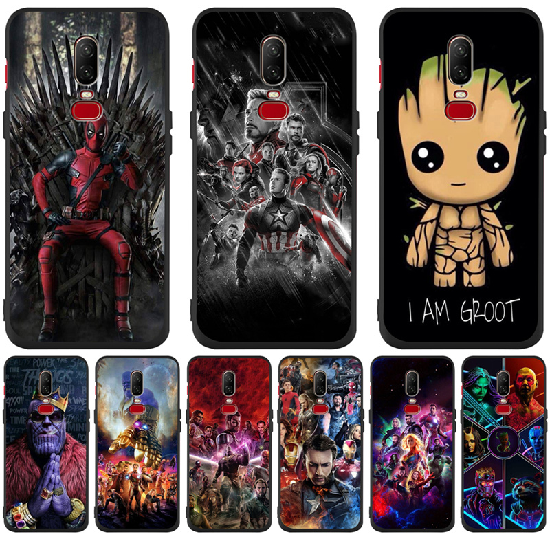 Luxury Cute Marvel Avengers Groot For <font><b>One</b></font> <font><b>plus</b></font> 5 <font><b>One</b></font> <font><b>plus</b></font> 5T <font><b>One</b></font> <font><b>plus</b></font> <font><b>6</b></font> <font><b>One</b></font> <font><b>plus</b></font> 6T <font><b>phone</b></font> <font><b>Case</b></font> Cover Funda Coque Etui capa image