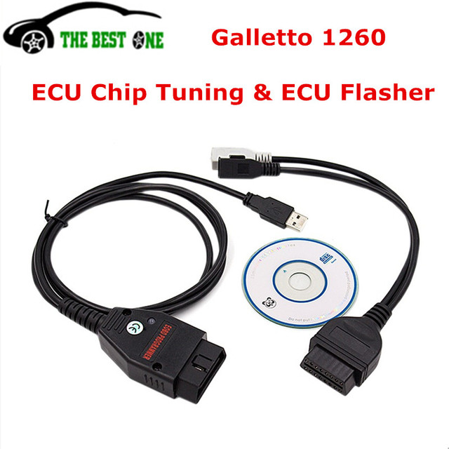 US $9 4 |Best Quality Galletto 1260 ECU Chip Tuning Tool Interface  EOBDII/OBD2/EOBD Flasher ECU Flasher Green PCB Read&Write Free Ship-in Code  Readers