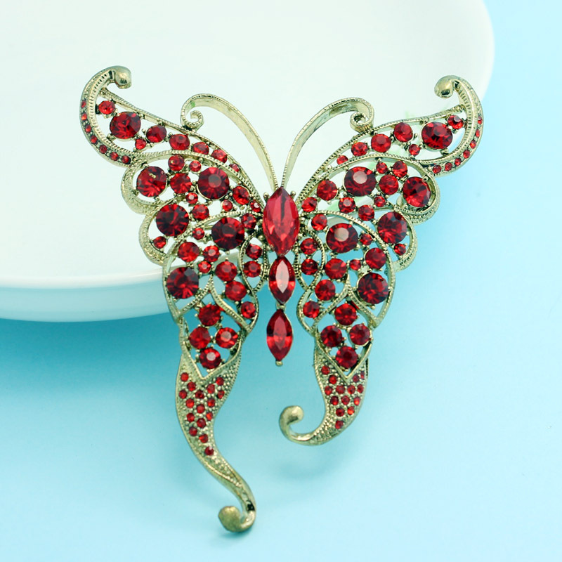 Beautiful Rhinestone Butterfly Brooches For Women Party Gifts Fashion Vintage Brooch Pins Accessories Vintage Hijab Pins Bijoux