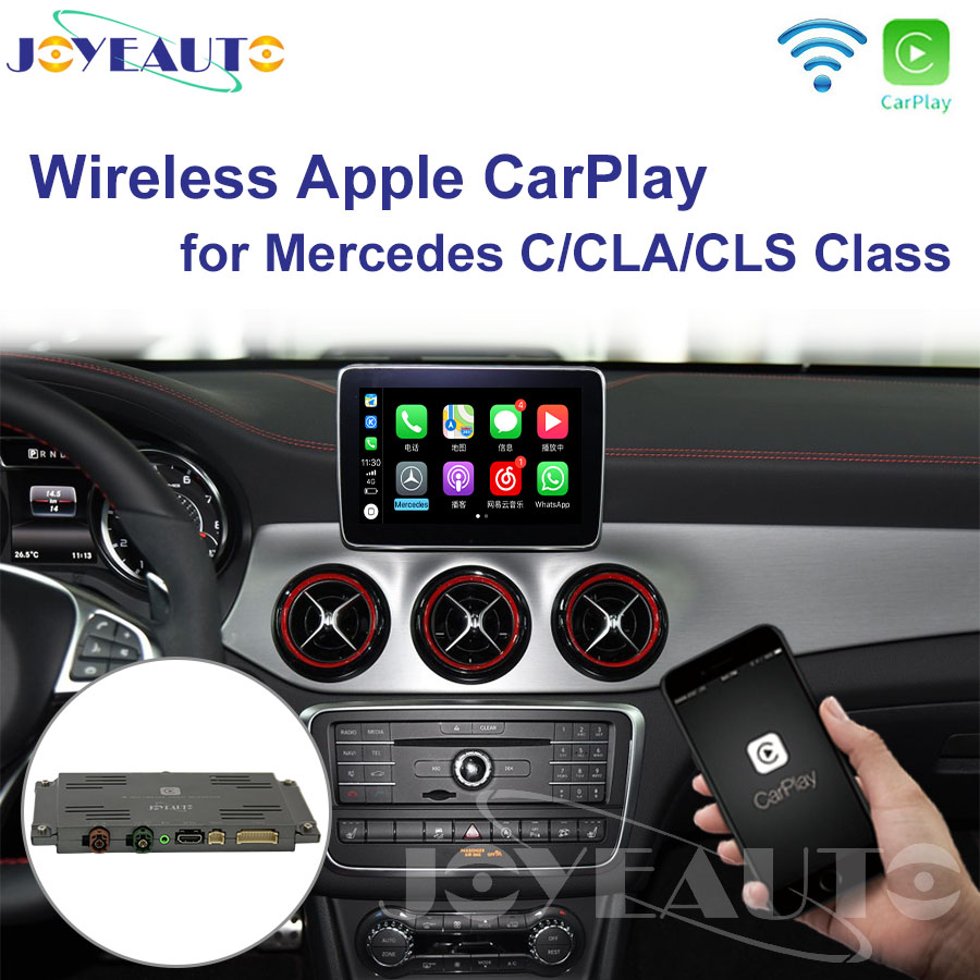 Joyeauto Wifi Wireless Carplay Android Auto Mirror Retrofit for Mercedes C CLA CLS class NTG 5.1 5.2 5.5 support Reverse Camera executive car