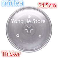 High Quality Thickening 24 5cm Microwave Oven Glass Plate Cover For A Microwave Oven For Galanz