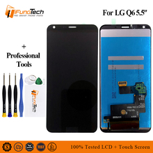 цена на New 5.5 2160x1080 IPS Display For LG Q6 LCD with Touch Screen Digitizer M700A M700DSK M700AN Q6+ Q6 LCD Replacement Parts