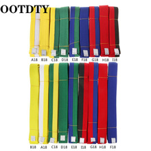 OOTDTY Professional Taekwondo Belt Karate Judo Double Wrap Martial Arts Stripe Sports 1.8m/2.8m