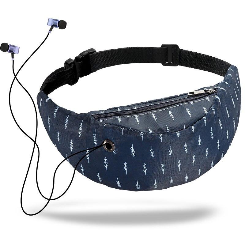 Nylon Waterproof Pockets Ladies Belt Bag Colorful Mobile Phone Bag Fashion Sports Travel Pocket 2019 Summer New