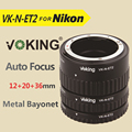 Voking VK-N-ET2 Автофокус Макрос Удлинитель Кольцо для Nikon D60 D90 D3100 D3200 D5000 D5100 D5200 D7000 D7100 Камеры DSLR