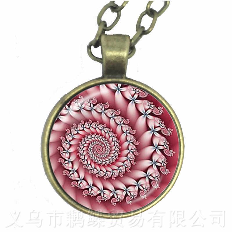 Cabala Mandala สร้อยคอดอกไม้ต้นไม้แก้ว Cabochon จี้ผู้หญิงเครื่องประดับของขวัญสร้อยคอ