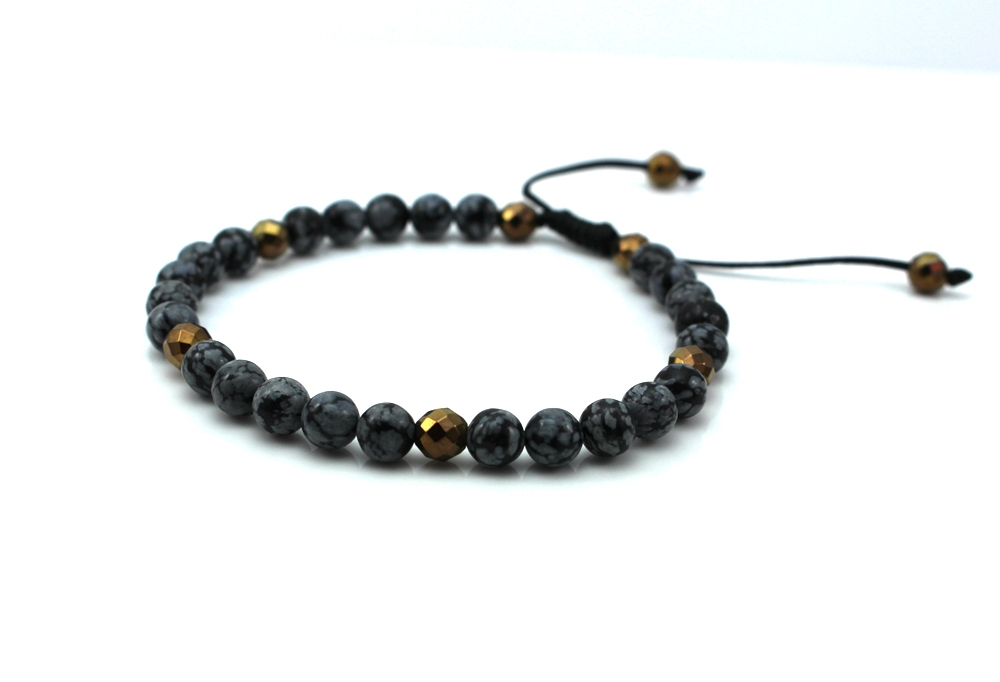 6 mm natural Shi Zhu bracelet by hand. Shambhala beaded bracelet. Men and women all appropriate gift