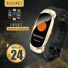 цены BANGWEI New Men Smart Sport Watch Heart Rate Monitor Women Fitness Tracker Smart Watch Pedometer Smartwatch For Android IOS