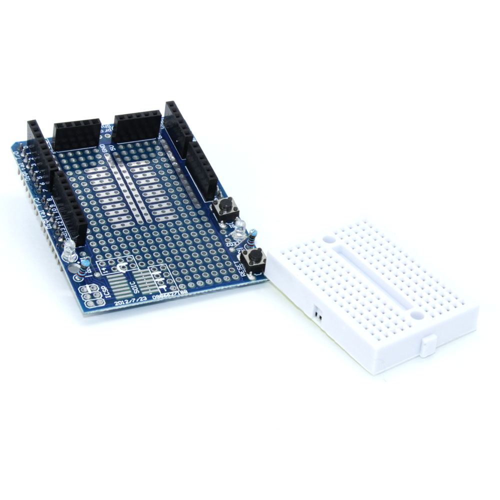 10pcs High Quality Uno Proto Shield Prototype Expansion Board With Protoboard For Electronic Projects Buildcircuit Package Included 10 X Protoshield