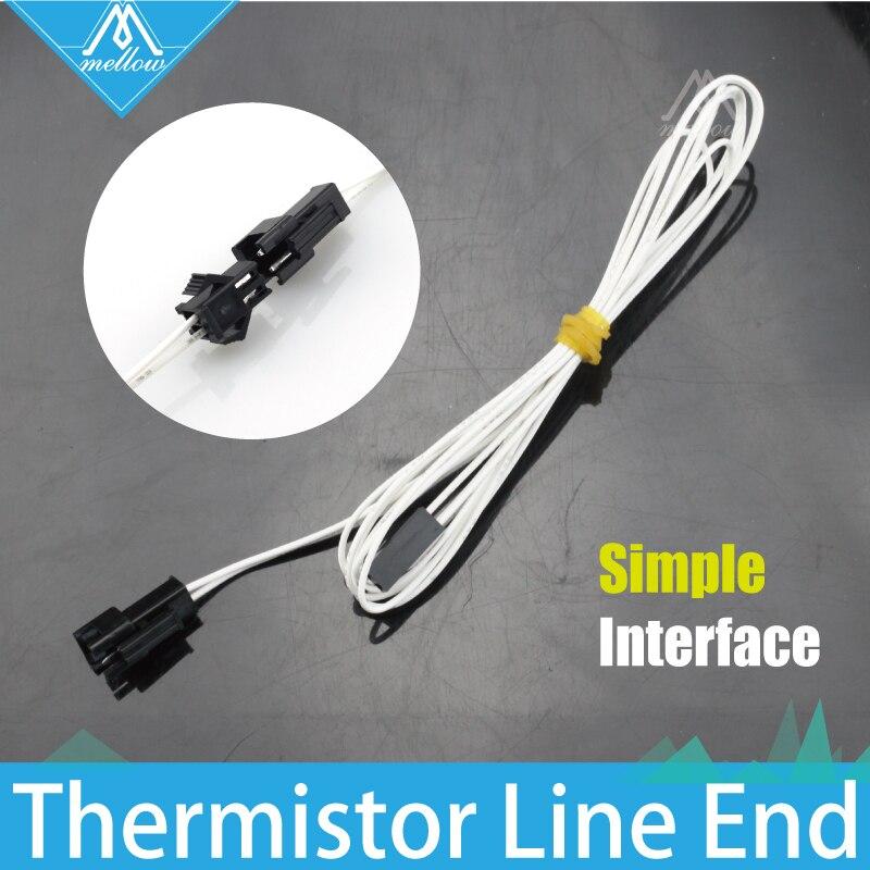 NOUVEAU!!! 100 K ohm NTC 3950 Simple remplacement B fin ligne longueur Thermistances avec câble pour 3D imprimante Reprap Mend Livraison Gratuite