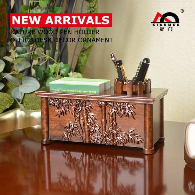 Xianmen Pen Holder Pot Stand New Arrivals Bamboo Carving Solid Wood