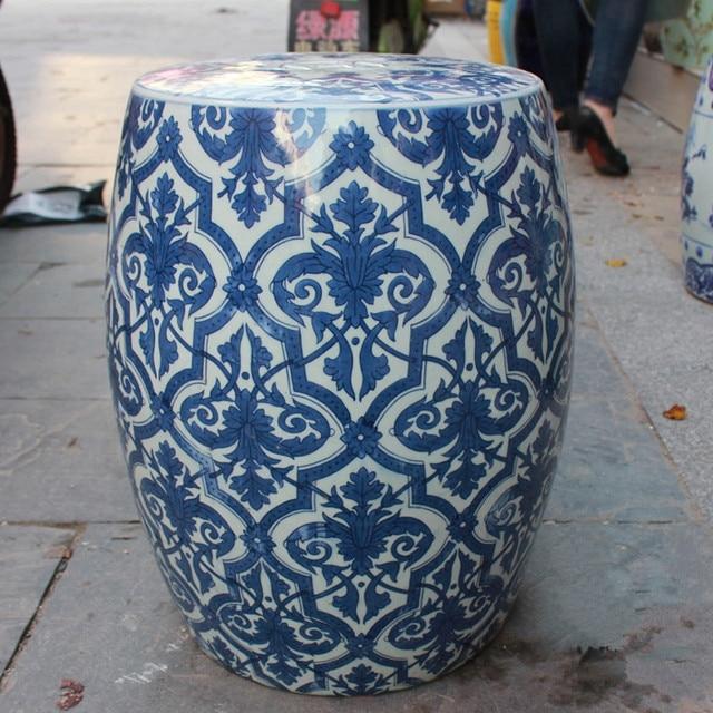 Jingdezhen Porcelain Garden Stool Ceramic Stool For Dressing Table Chinese  Blue And White Garden Stool Vintage
