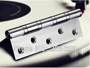 Free Shipping, 380g,SUS 201 brushed stainless steel Hinges for timber door / Metal Door, ball bearing hinge, no noise, long life