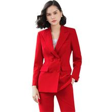 Fashion suit suit female new large size double-breasted busi