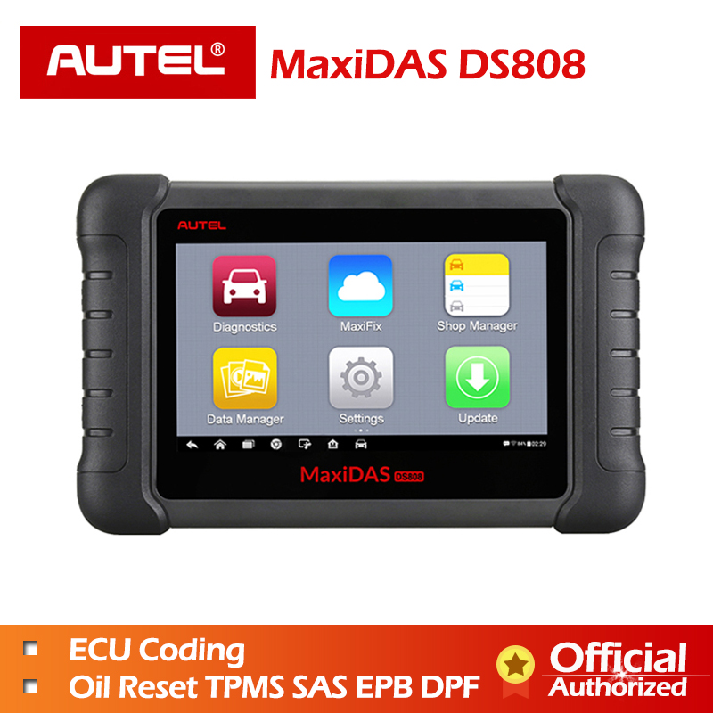 Autel MaxiDAS DS808 Full Systems OBDII Auto Diagnostic Scanner Online Update DS808 Car tool Same as