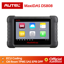 цена на Autel MaxiDAS DS808 Full Systems OBDII Auto Diagnostic Scanner Online Update DS808 Car tool Same as like MS906 Free shipping