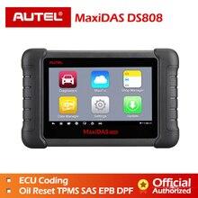 Autel MaxiDAS DS808 полный системы OBDII Авто диагностический сканер онлайн обновление DS808 автомобиля инструмент же как MS906 Бесплатная доставка