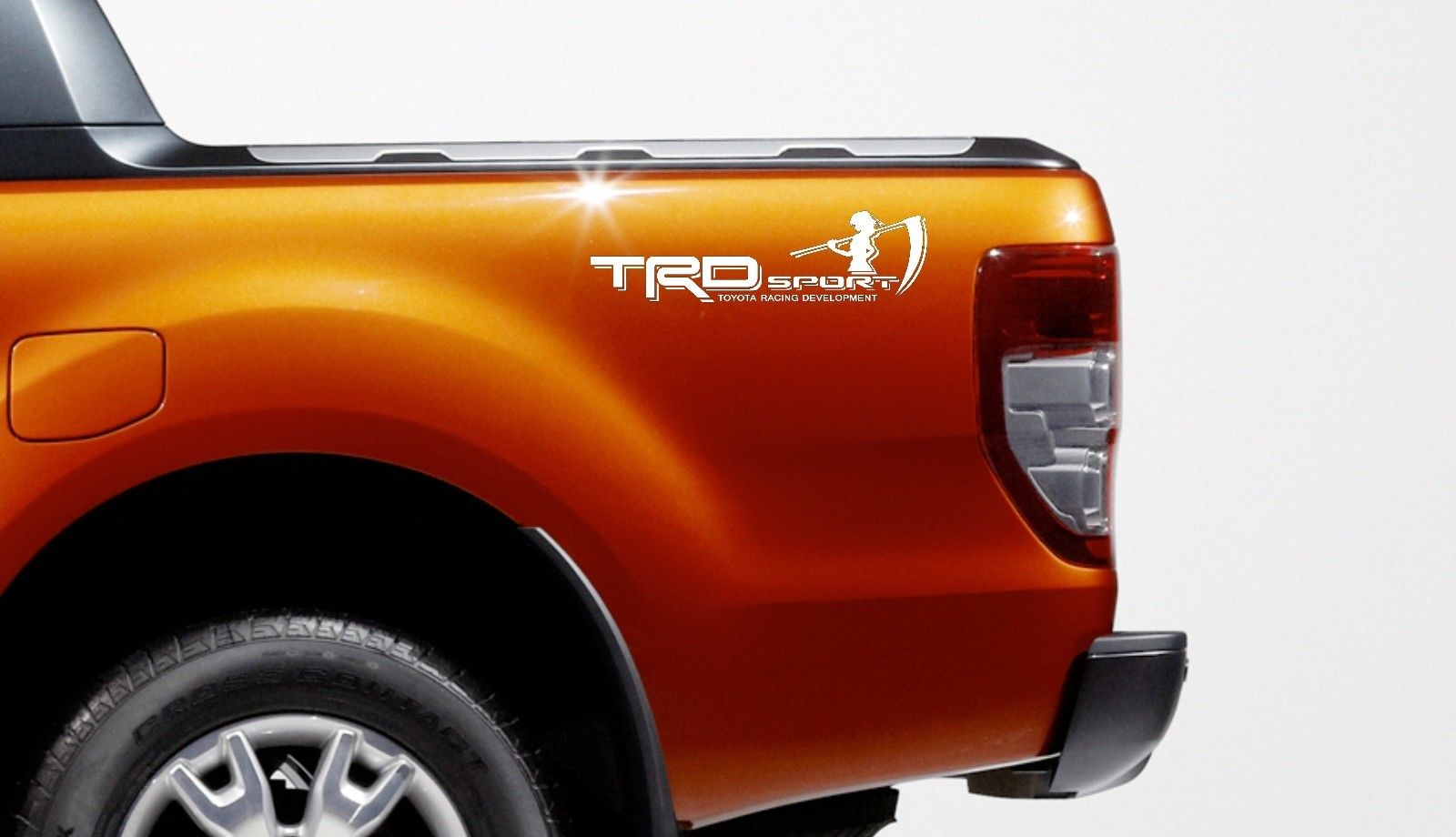 Car styling for 2x trd sport toyota body vinyl decal stickers sport racing emblem logo