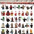 Star Wars Jovem Boba Pés do Luke Skywalker Darth Vader Yoda Han Solo Obi Wan R2D2 Building Blocks Brinquedos Para Crianças