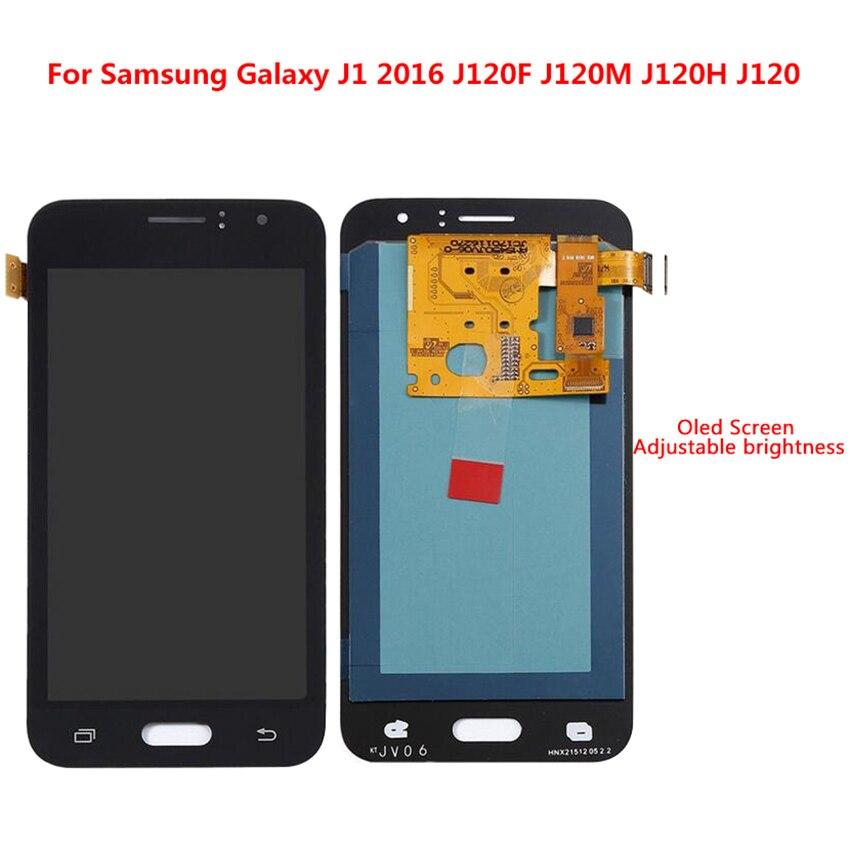 Super AMOLED HD LCD pour Samsung Galaxy J120F J120M J120H J120 2016 écran tactile numériseur pièces de rechange