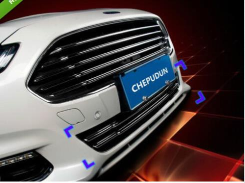Chrome Front Grille Cover Trim for Ford Fusion 2013 2014 2015 abs chrome front center grille grill cover trim for ford explorer 2011 2012 2013 2014