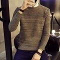 Venda quente 2016 Nova Marca de Moda Patchwork Pullovers dos homens Computador de Malha de lã Fina Casuais camisola de Malha Plus Size